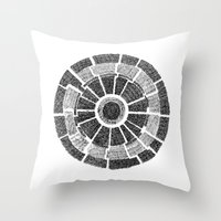 planet Throw Pillows featuring planet by mishart