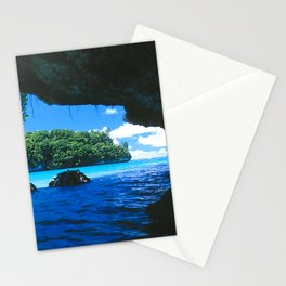 Exotic Palau Islands: View From Treacherous Ocean Cave Stationery Cards