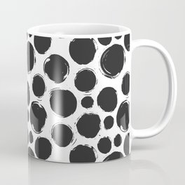 Dry brush black ink dots Coffee Mug