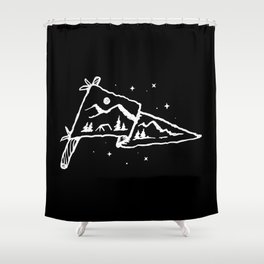 Camp Flag Shower Curtain