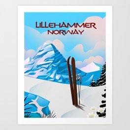 Lillehammer Norway Art Print