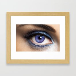 Woman's Blue Eye Framed Art Print