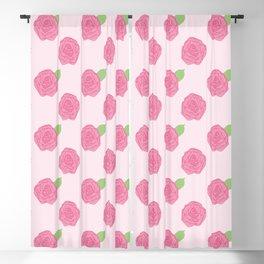 Pink Rose Pattern Blackout Curtain