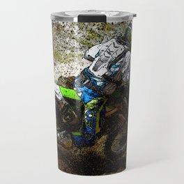 Round the Bend - Dirt-Bike Racing Travel Mug