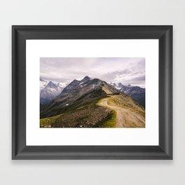 Haute Route Framed Art Print