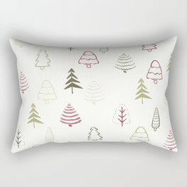 Winter Trees in Snowy Day Rectangular Pillow
