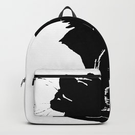 Life With Black Cats Vector Backpack