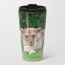 Lioness of Masai Mara Metal Travel Mug