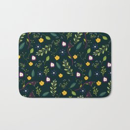 Floral Greenery Pattern I Bath Mat