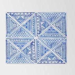 Geo tile art Throw Blanket