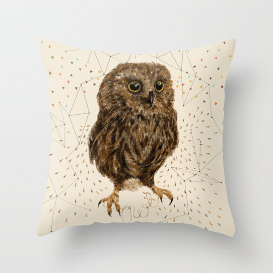 Mr.Owl IV Throw Pillow