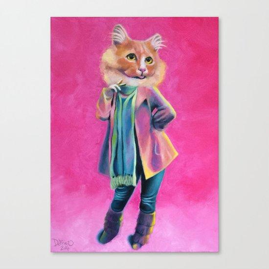 Disco Cat Canvas Print