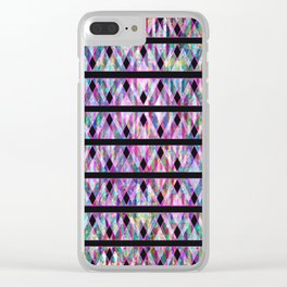 Geometric Glossy Pattern G330 Clear iPhone Case