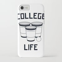 college iPhone & iPod Cases featuring College Life by Danielle Menard