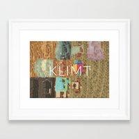 gustav klimt Framed Art Prints featuring Klimt by miragoround
