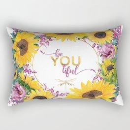 beYOUtiful floral wreath Rectangular Pillow