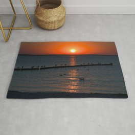 Holy sunset on the Baltic Sea Rug