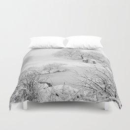 Snow Day New York City Duvet Cover