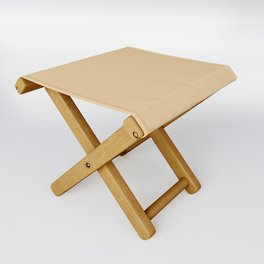 From The Crayon Box – Gold Brown Solid Color Folding Stool