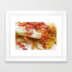 Bacon & Egg Breakfast Framed Art Print