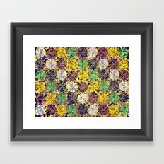 Pattern circles joined Framed Art Print