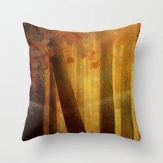 warm trees, summer breeze Throw Pillow