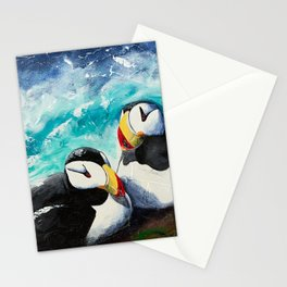 Puffins - Always together - by LiliFlore Stationery Cards
