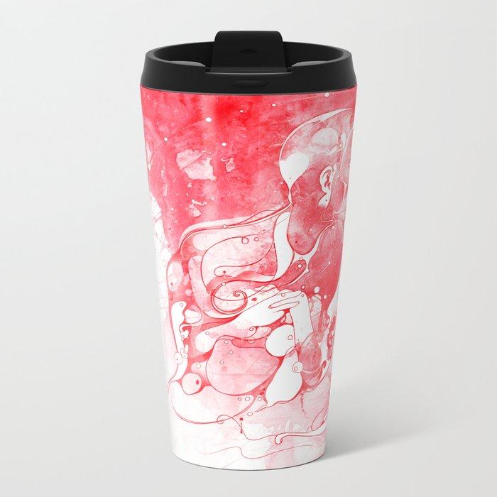 Love Is Red Metal Travel Mug