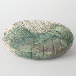 Albrecht Durer - The Large Piece of Turf Floor Pillow