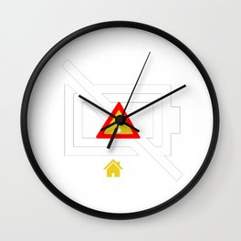 Funny Anti Social Introvert Introversion Social Battery Is Low Gift Wall Clock