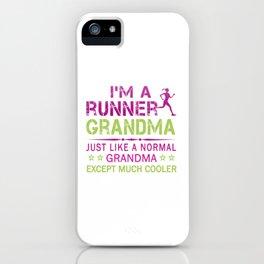 RUNNER GRANDMA iPhone Case