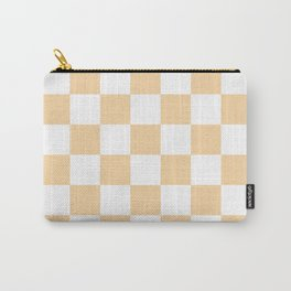 Checkered - White and Sunset Orange Carry-All Pouch