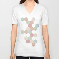 pastel goth V-neck T-shirts featuring Pastel by According to Panda