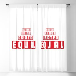 Equal Men Blackout Curtain