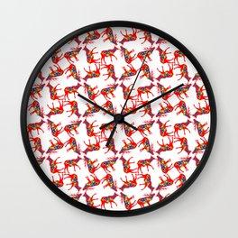 Graphic Dala Elk Pair Multiples Wall Clock