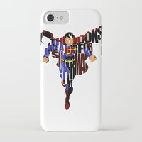 super hero iPhone & iPod Cases featuring Super Hero by Ayse Deniz