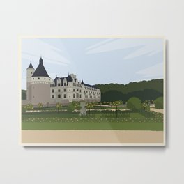 Chateau de Chenonceau (no writing) Metal Print