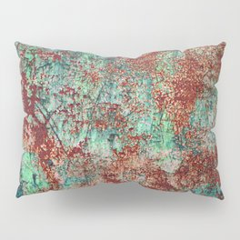 Abstract Rust on Turquoise Painting Pillow Sham