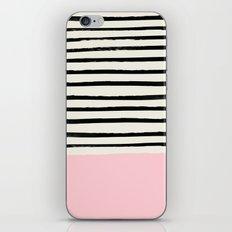 Millennial Pink x Stripes iPhone Skin