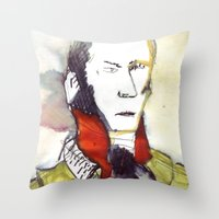 lawyer Throw Pillows featuring the lawyer man by seb mcnulty