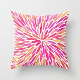 Watercolor Burst – Pink Ombré Throw Pillow