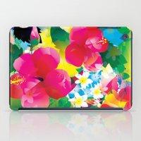 hawaiian iPad Cases featuring Hawaiian jungle by Akwaflorell