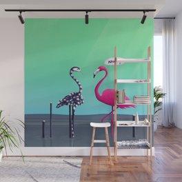 Nice Try, Flamingo! Wall Mural