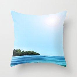 The Happy Isle Throw Pillow