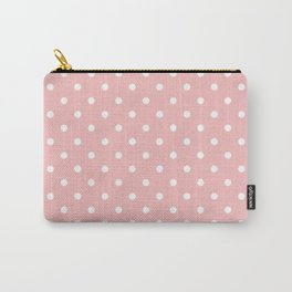 Powder Pink with White Polka Dots Carry-All Pouch