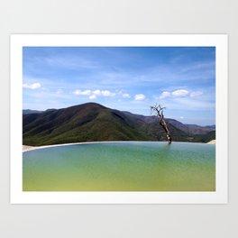 Hierve el Agua Art Print