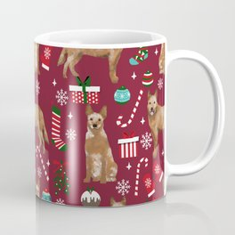 Australian Cattle dog christmas presents stockings candy canes winter dog breed lover Coffee Mug