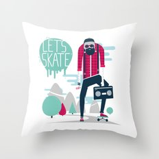 Let's skate  Throw Pillow