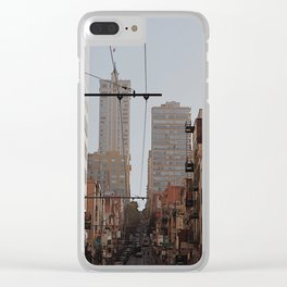 you know where the city is Clear iPhone Case