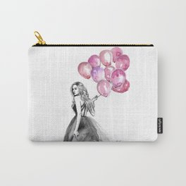 Balloons Pink Carry-All Pouch